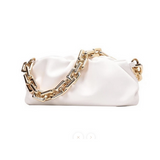GOLD CHAIN WHITE SHOULDER BAG-bags-Le Musthave