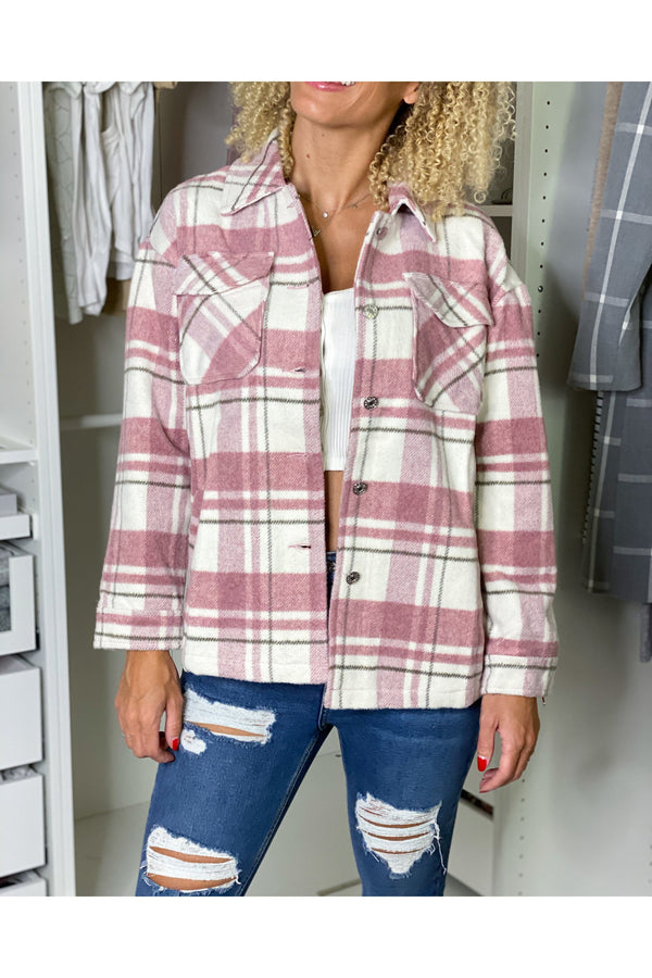 JACKET PINK/WHITE-JACKETS-Le Musthave