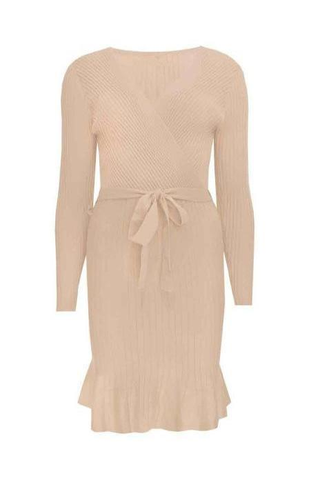 KYLIE DRESS BEIGE-DRESSES-Le Musthave