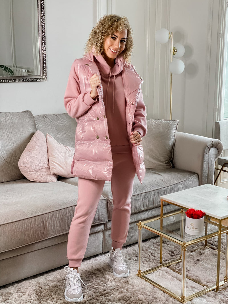 LUXURY HOODIE 3 PIECE SET - PINK-SETS-Le Musthave