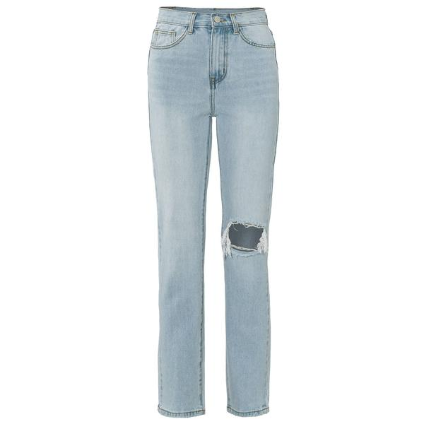 MALU LIGHT BLUE RIPPED JEANS-jeans-Le Musthave