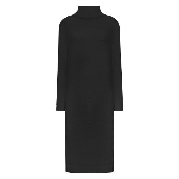 MELODY SWEATER DRESS BLACK-DRESSES-Le Musthave