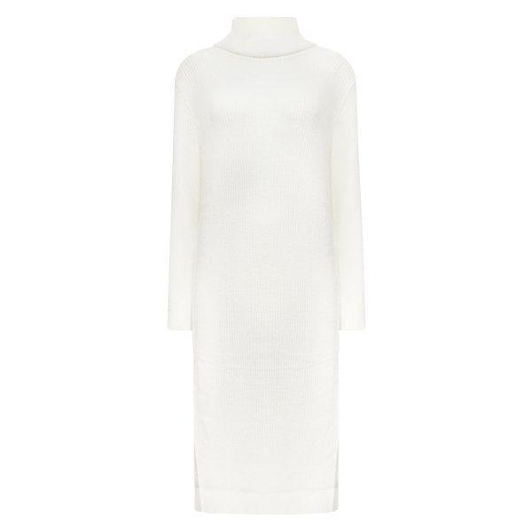 MELODY SWEATER DRESS WHITE-DRESSES-Le Musthave