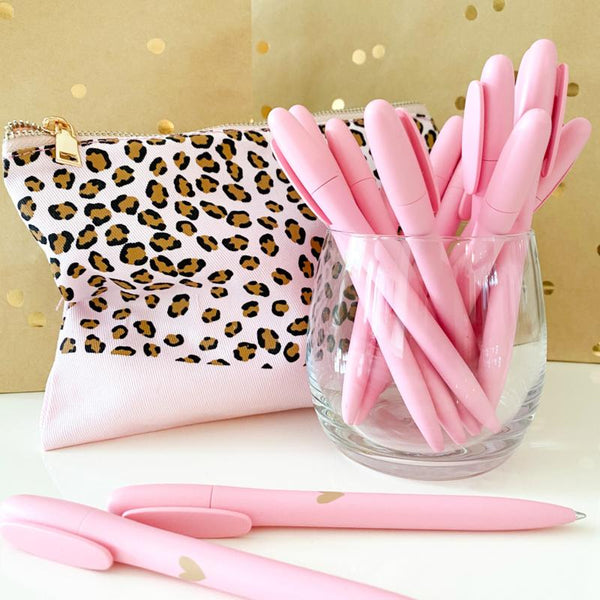 PEN | PINK & GOLDEN HEART-gift-Le Musthave