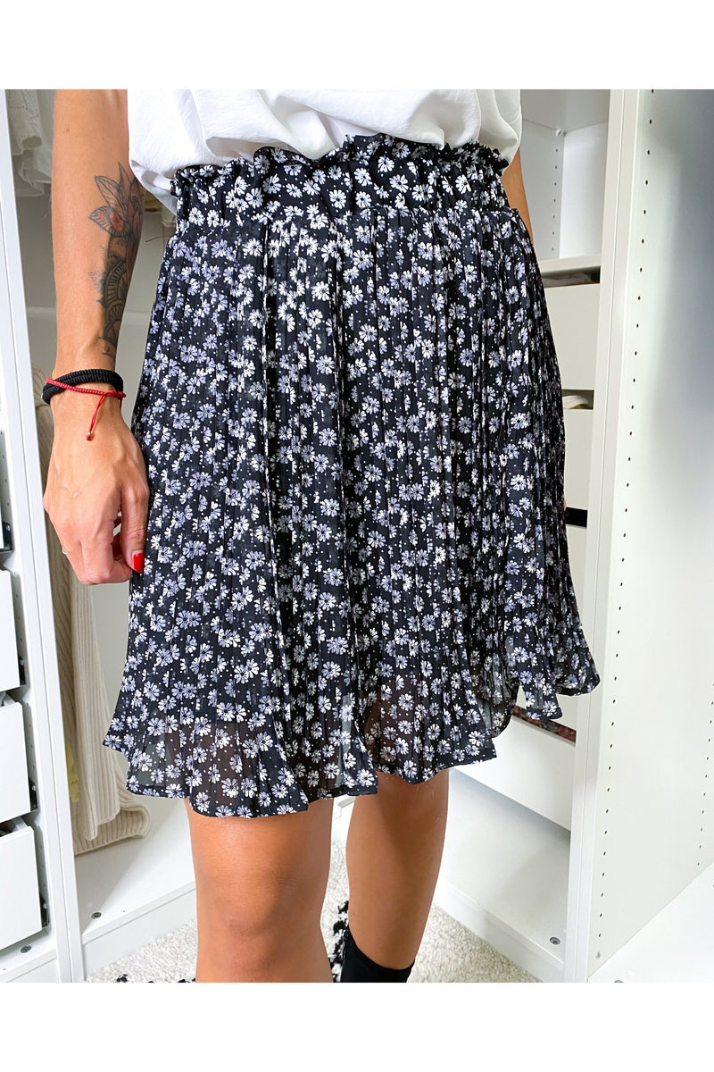 PETIT FLOWER SKIRT BLACK-skirts-Le Musthave