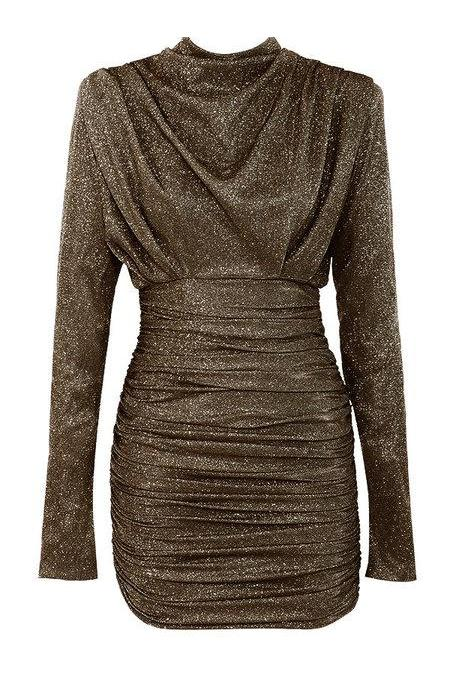 UNIQUE THE LABEL - HOLLY DRESS LUREX BLACK/GOLD-Dress-Le Musthave