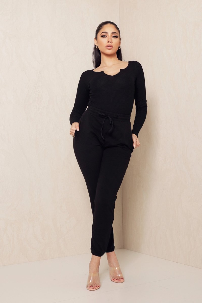 UNIQUE THE LABEL - KIM JOGGER BLACK-pants-Le Musthave