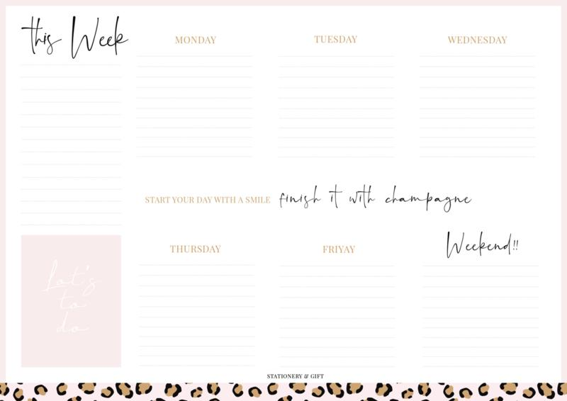 WEEKLY PLANNER-gift-Le Musthave