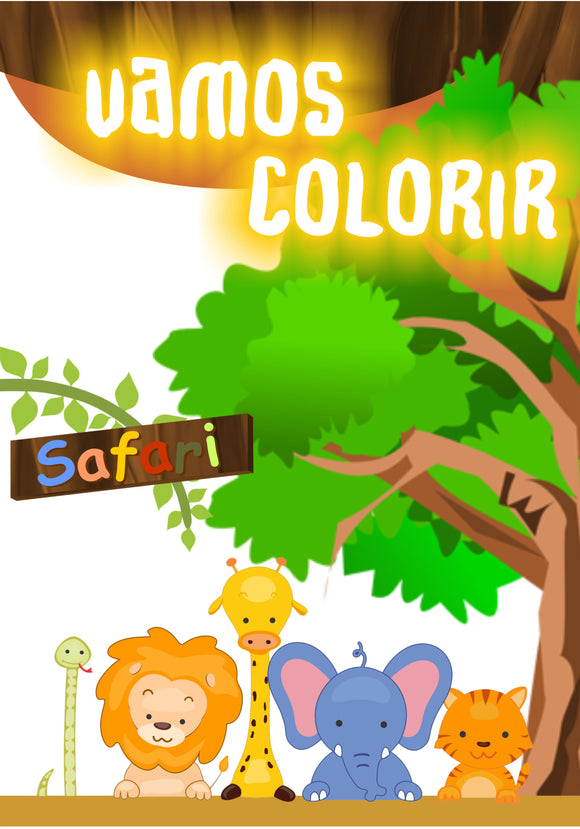 Safari - Caderno de Colorir
