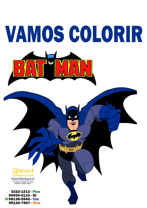 Batman - Caderno de Colorir