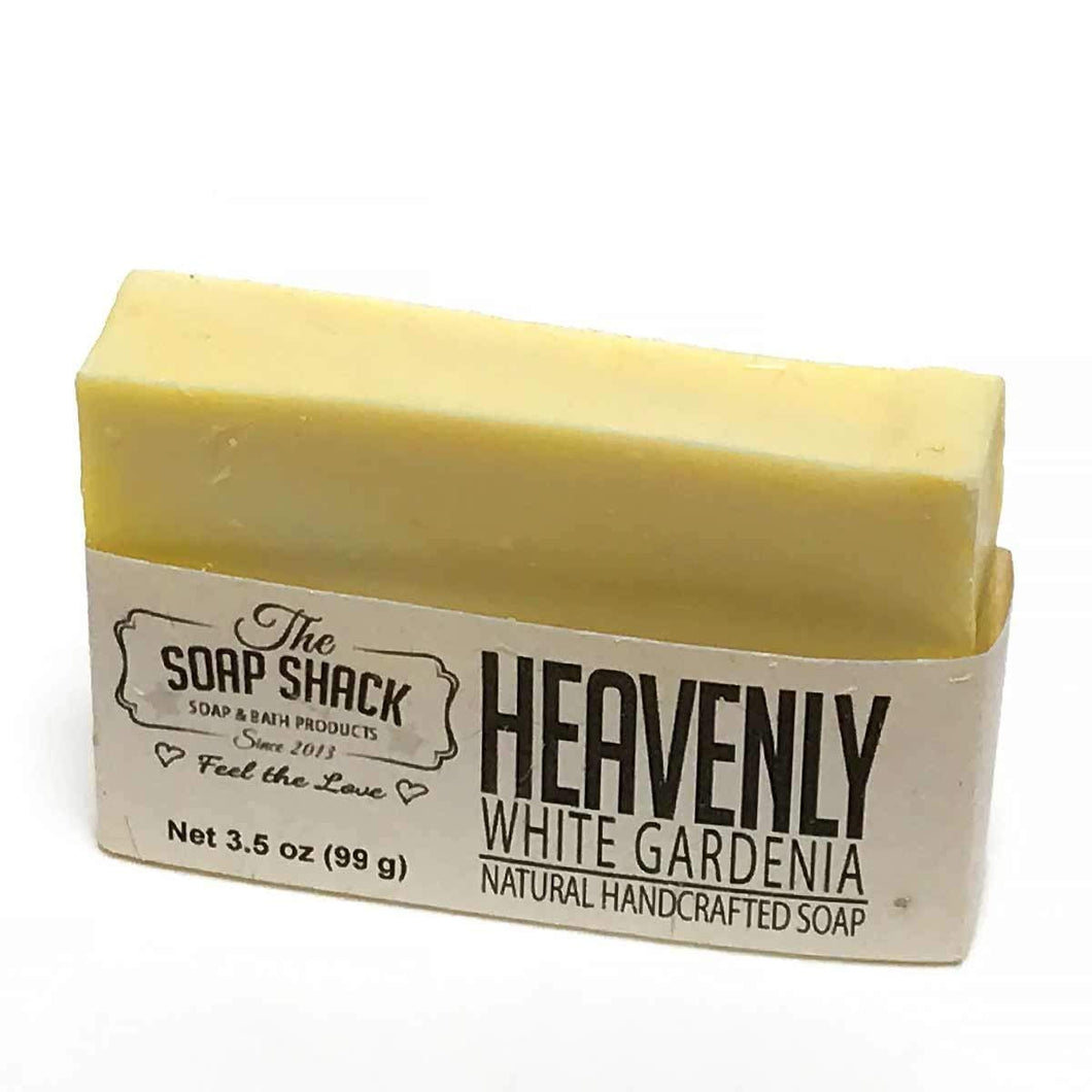White Gardenia Soap-Handmade Soap-Cold Process Soap-Smells of White Gardenia blended with ylang and lily-By The Soap Shack - CraftSoap