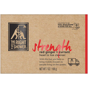The Right To Shower Bar Soap, Strength, 7 oz, Pack of 3 - CraftSoap