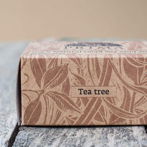 Christmas Gift TEA TREE Essential Oil with DEAD SEA MINERALS perfect skin care help with PSORIASIS ACNE ECZEMA bar soap 5 oz Handmade - CraftSoap