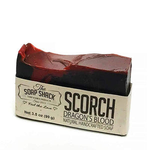 Dragons Blood Soap-Handmade Soap-Cold Process Soap-Activated Charcoal-Sandalwood-Myrrh-Patchouli-By The Soap Shack - CraftSoap