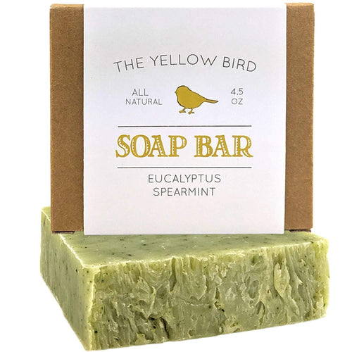 Eucalyptus Spearmint Soap Bar - Artisan Handmade Soap - Natural and Organic Ingredients - Moisturizing Wash for Face, Body, and Hands. Vegan and Paraben Free - CraftSoap