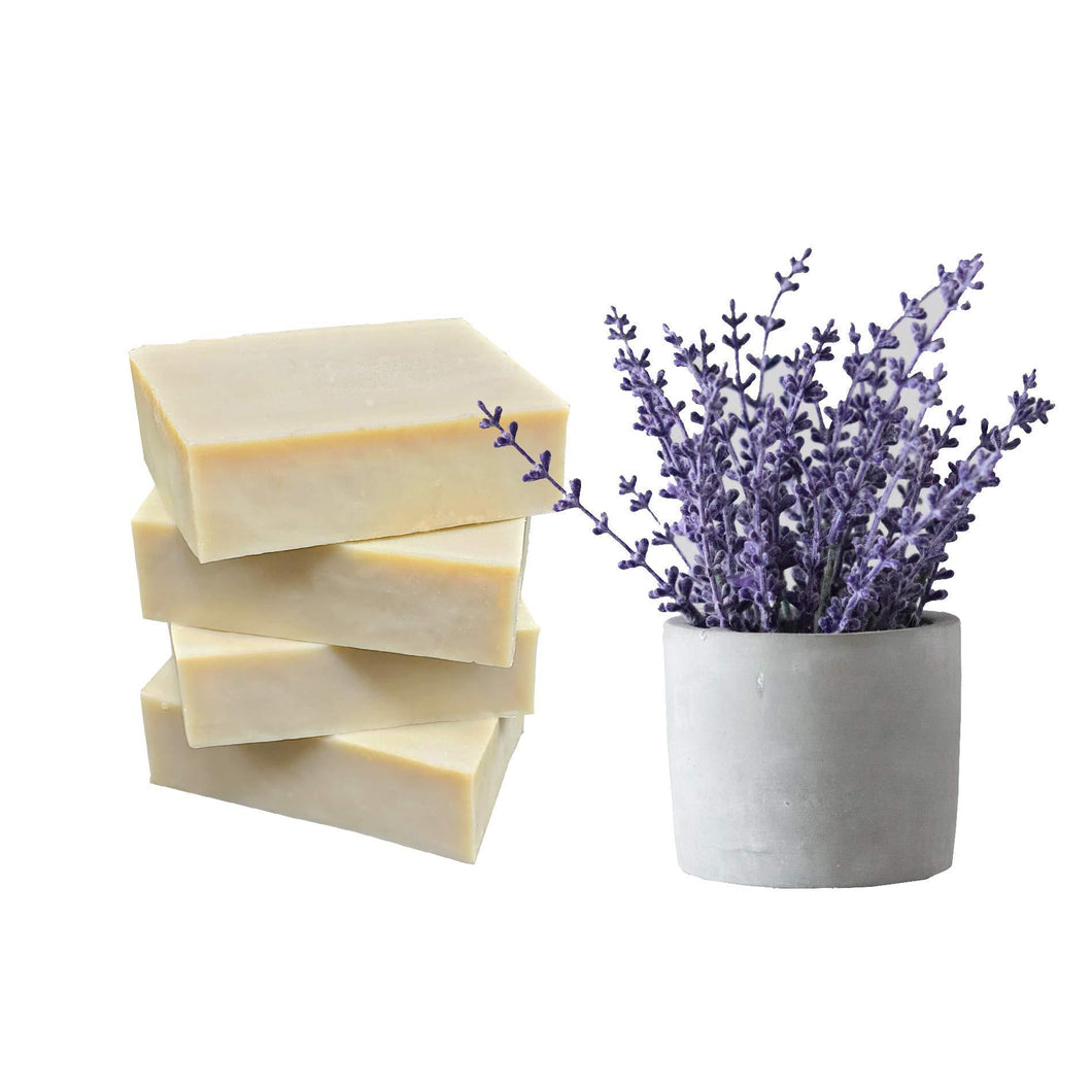 Natural Enhanced Pure Olive Oil Bar Soap Sets from Mediterranean (Lavender Bars of 4) - CraftSoap
