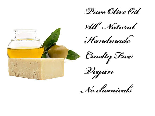 Olive Oil Soap Bar - Natural, Mediterranean, 100% Artisan Crafted Pure Quality  (6 Bar Scented Set) - CraftSoap