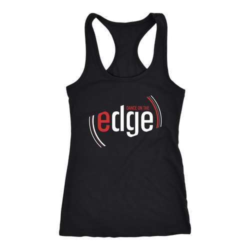 Dance On The Edge Ladies Racerback - Black