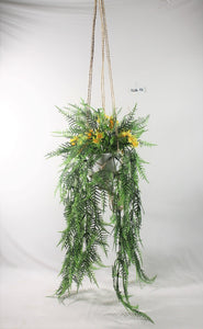Hanging Mixed Fern Macrame