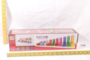 Wooden Counting Pillar with Shapes