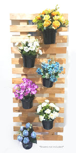 Hanging Wooden Pallet with Vase