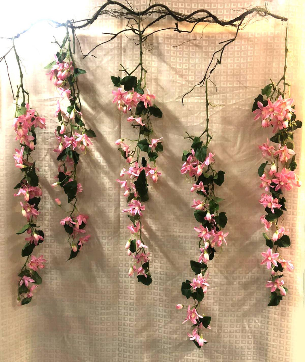 Hanging Clematis Floral Decoration