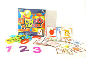 Jumbo Numbers and Letter Flash Cards