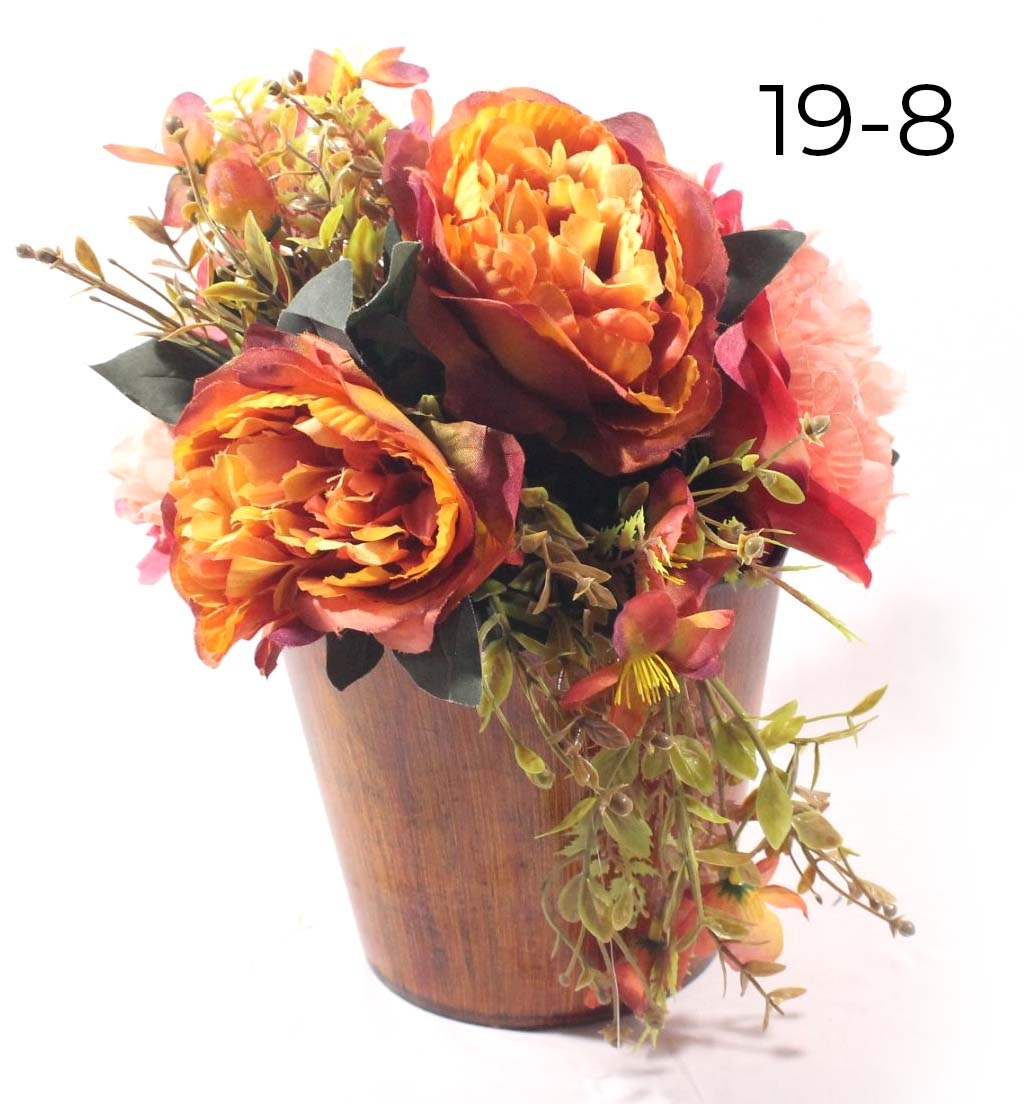 Ocher Rose Mix Flower Arrangement