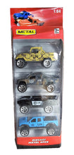 Load image into Gallery viewer, Die Cast Metal Cars 4-in-1