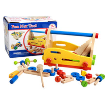 Load image into Gallery viewer, Wooden Fun Nuts and Bolts Tool Set Repair Set