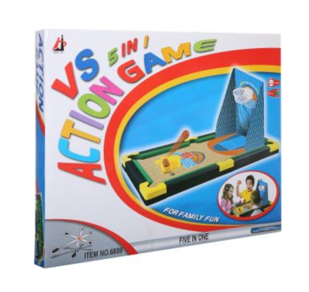 5-in1 Action Game Snooker Soccer Ice Hockey Basketball