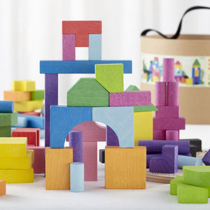 Wooden Colored House Blocks