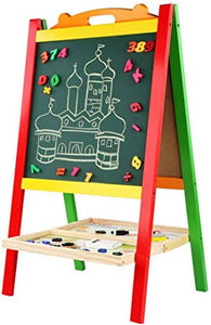 Wooden Double-sided Children's Drawing Board