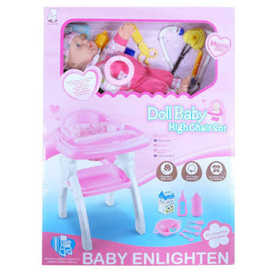 Doll Baby High Chair Set