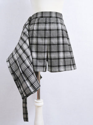 """Black A-line"" mini-skirt"