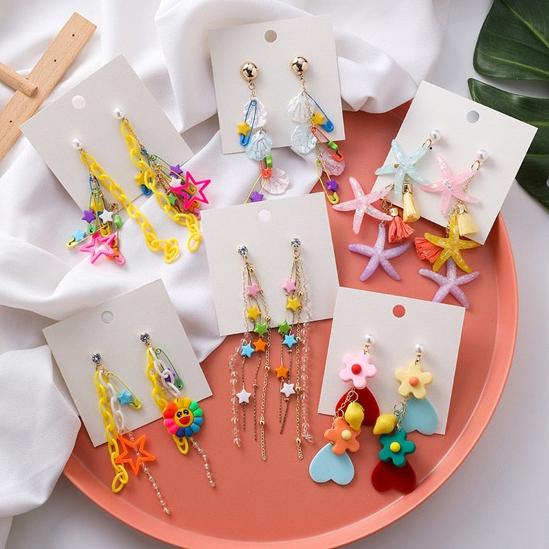 """Colorful Tassle"" earrings"