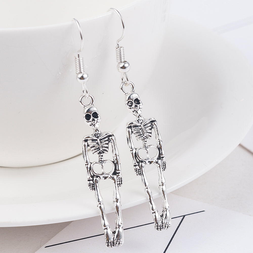 """Vintage Skeleton"" earrings"