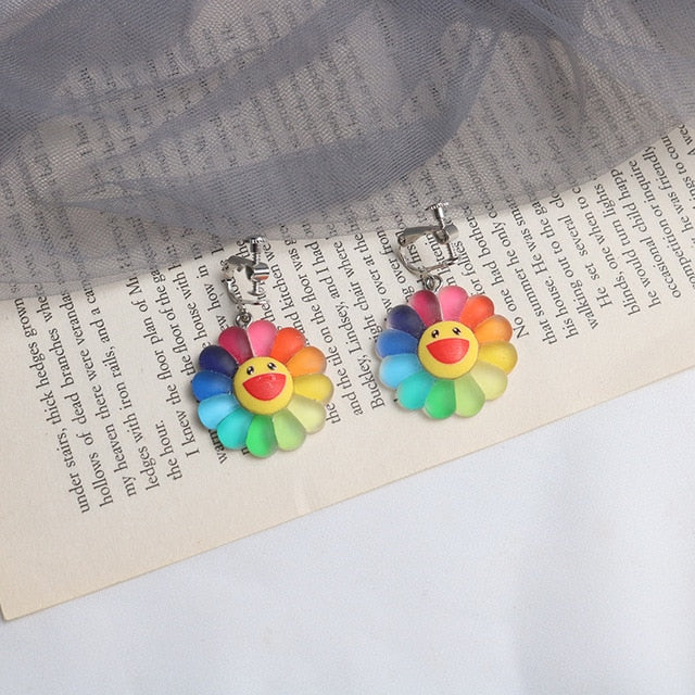 """Flower"" earrings"