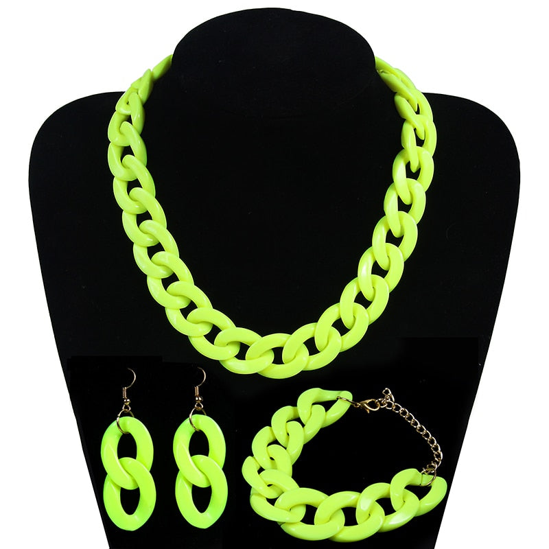 """Neon Acrylic"" jewelery set"