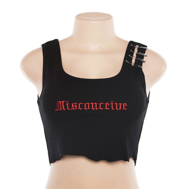 """Misconceive"" crop top"