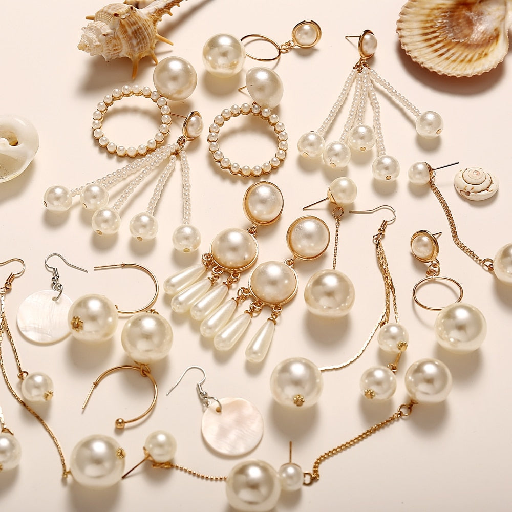 """Pearl"" earrings"