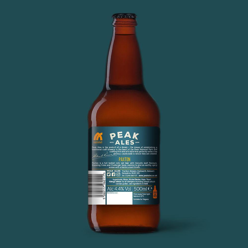 Paxton Ruby Red Beer By Peak Ales Reverse
