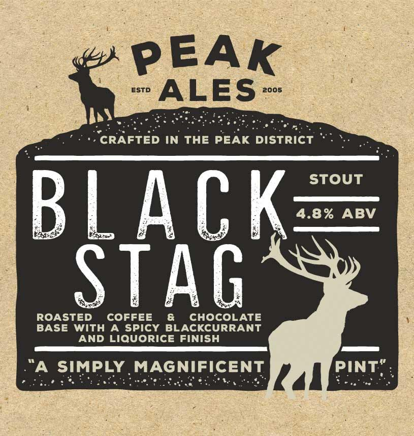 Black Stag x 12 Bottles Label Front