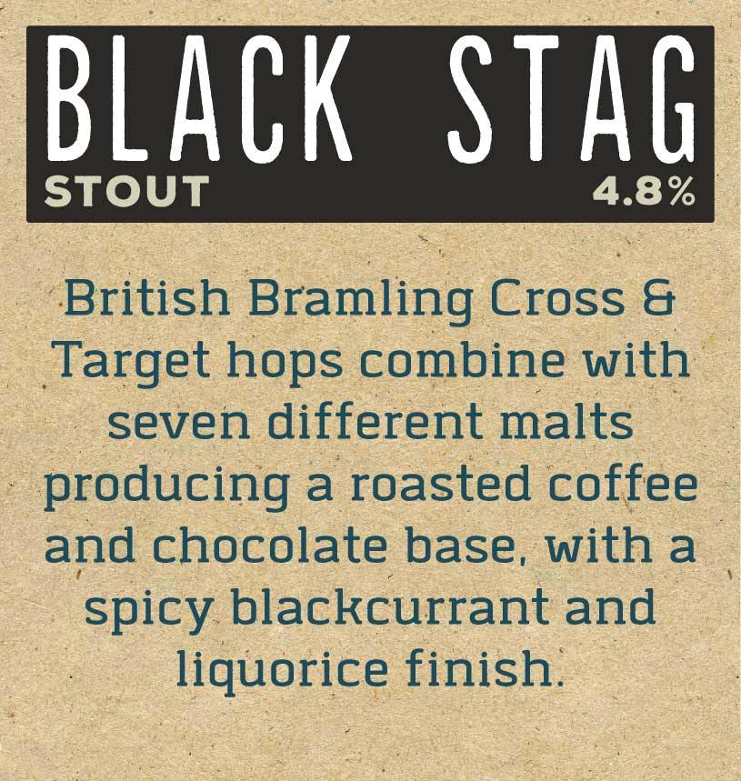 Black Stag x 12 Bottles Label Reverse