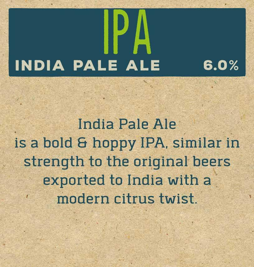 India Pale Ale IPA Label Reverse