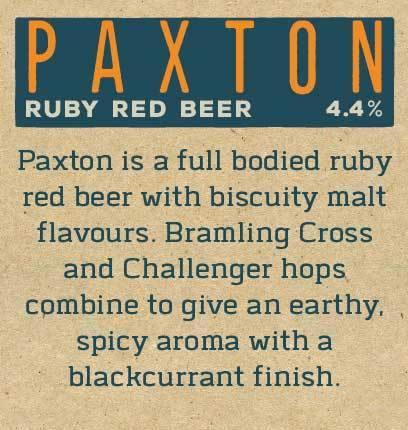 Paxton Ruby Red Beer By Peak Ales Beer Mat Reverse