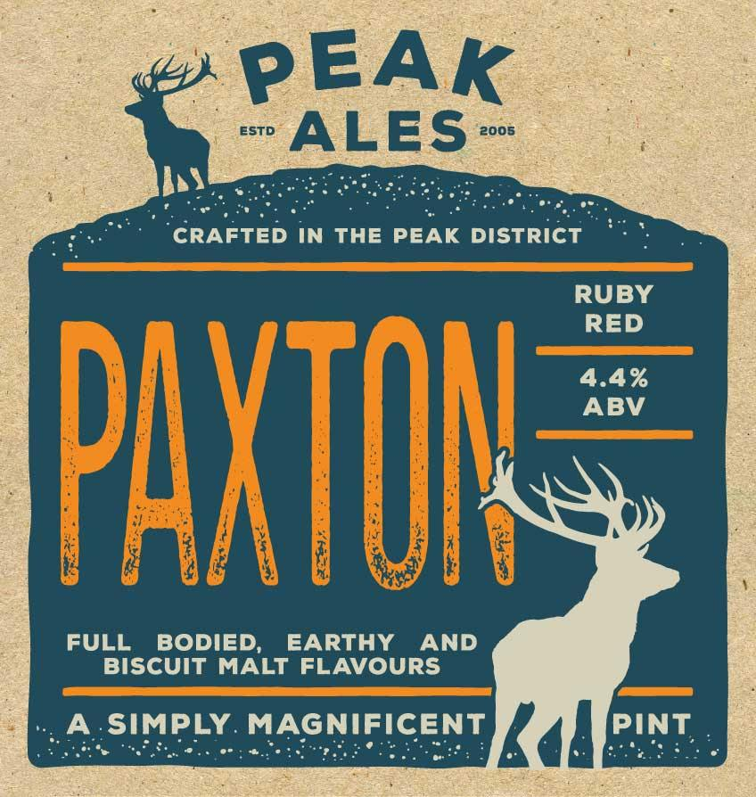 Paxton Ruby Red Beer By Peak Ales Beer Mat