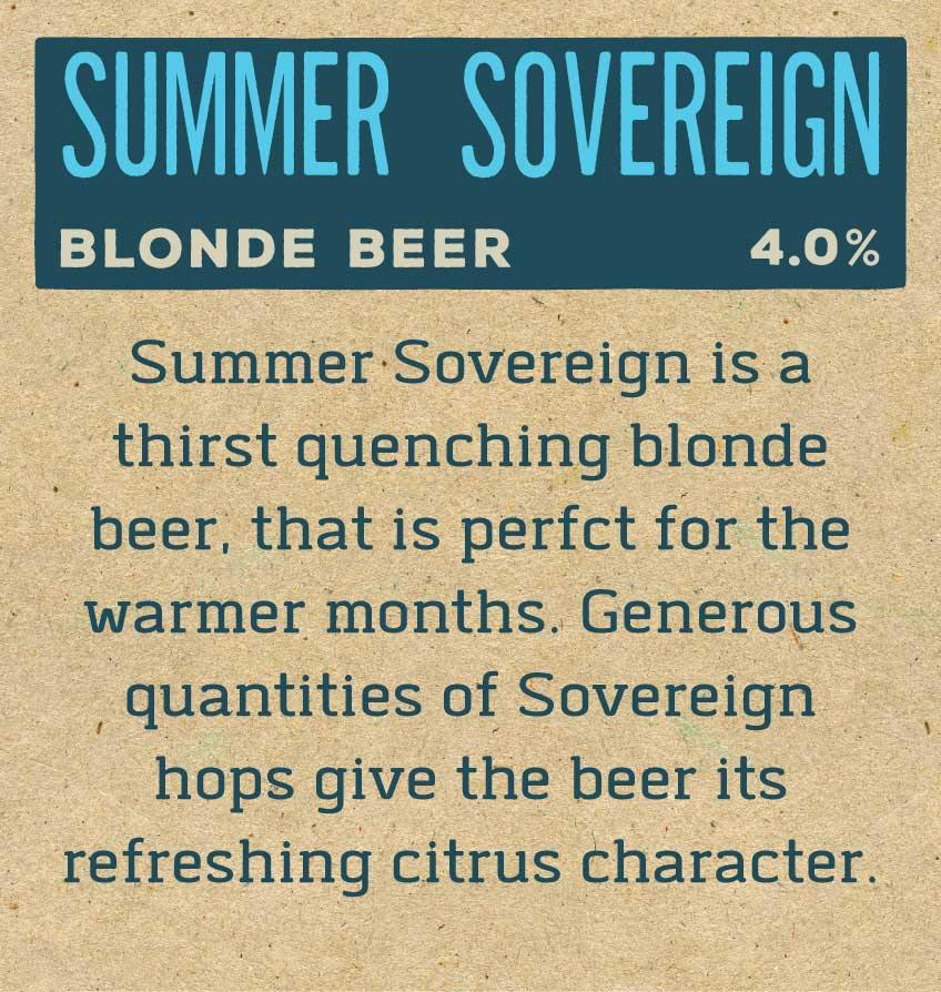 Summer Sovereign Label Reverse