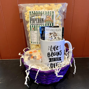 Coffee Mug & Snacks Gift Basket
