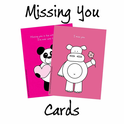 Cheeky Missing You Cards